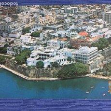 Postales: POSTAL PUERTO RICO, OLD SAN JUAN, VISTA AEREA DEL VIEJO SAN JUAN. Lote 84687808