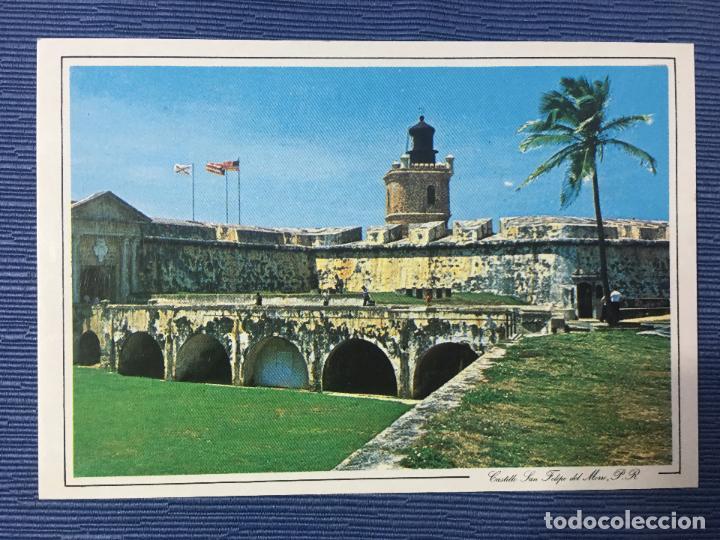 POSTAL PUERTO RICO, EL ANTIGUO FUERTE DE SAN FELIPE DEL MORO A LA ENTRADA DE LA BAHIA DE SAN JUAN (Postales - Postales Extranjero - América)