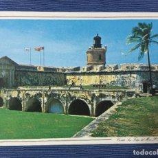 Postales: POSTAL PUERTO RICO, EL ANTIGUO FUERTE DE SAN FELIPE DEL MORO A LA ENTRADA DE LA BAHIA DE SAN JUAN. Lote 84688988