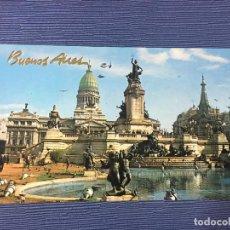 Postales: POSTAL BUENOS AIRES, FUENTE FRENTE AL CONGRESO. Lote 84766952