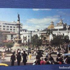 Postales: POSTAL ECUADOR, MONUMENTO A LA INDEPENDENCIA EN LA PLAZA MAYOR - QUITO. Lote 84772508