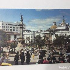 Postales: POSTAL ECUADOR, MONUMENTO A LA INDEPENDENCIA EN LA PLAZA MAYOR - QUITO. Lote 84772600