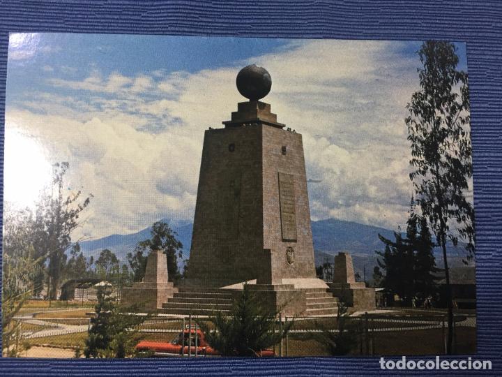 POSTAL ECUADOR, MONUMENTO EQUINOCCIAL, LATITUD 0º 0'0'' - 21 KM. AL NORTE DE QUITO (Postales - Postales Extranjero - América)