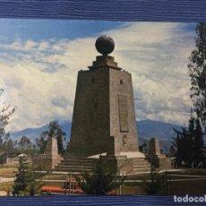 Postales: POSTAL ECUADOR, MONUMENTO EQUINOCCIAL, LATITUD 0º 0'0'' - 21 KM. AL NORTE DE QUITO. Lote 84773060