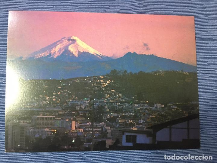 POSTAL ECUADOR - QUITO NOCTURNO CON EL COTOPAXI (Postales - Postales Extranjero - América)