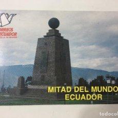 Postales: POSTAL ECUADOR - MITAD DEL MUNDO - LATITUD 0º 0'0''. Lote 84773600