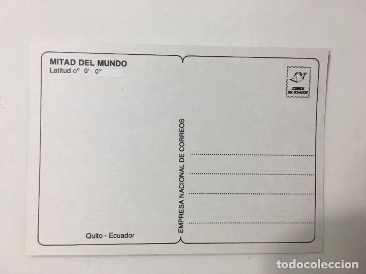 Postales: POSTAL ECUADOR - MITAD DEL MUNDO - LATITUD 0º 0'0'' - Foto 2 - 84773600