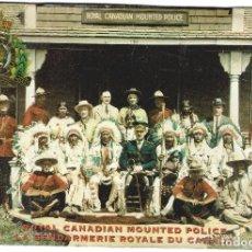 Postales: REAL POLICIA MONTADA DE CANADA CON ABORIGENES - RECUERDO DE LA ESTAMPIDA CALGARY 1924 -. Lote 85927572