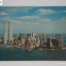 Postales: POSTAL DE NUEVA YORK CON WORLD TRADE CENTER 1973. Lote 64537975