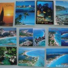Postales: POSTALES CARIBE CANCUN MEXICO: PLAYA DEL CARMEN COZUMEL CORAL BEACH PUNTA NIZUC RIVERA MAYA… . Lote 87140968