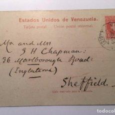 Postales: ANTIGUA POSTAL CIRCULADA SELLO Y MATASELLO AÑO 1905 ESTADOS UNIDOS DE VENEZUELA, PUERTO. Lote 89096668