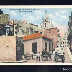 Postales: POSTAL DE LA HABANA (CUBA): INTERSECTION OF NARROWS STREETS. CRUCE DE CALLES ESTRECHAS (SWAN 38). Lote 89468672