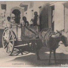 Postales: COLOMBIA.CARTAGENA DE INDIAS.CARRO DE TRANSPORTE. Lote 91296620