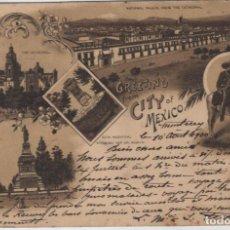 Postales: GRUSS DE CITY OF MÉXICO CIRCULADO EN 1900 SIGLO XIX !!!. Lote 91384615