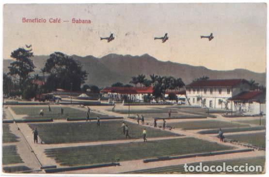 POSTAL BENEFICIO SECANDO CAFE ESTADO SABANA COSTA RICA ANIMADA AVIONES 1932 (Postales - Postales Extranjero - América)
