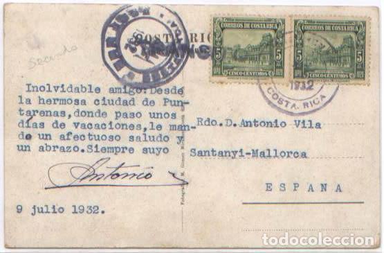 Postales: POSTAL BENEFICIO SECANDO CAFE ESTADO SABANA COSTA RICA ANIMADA AVIONES 1932 - Foto 2 - 93703895