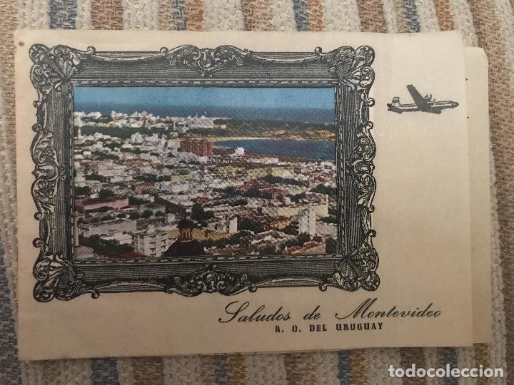 ANTIGUA Y RARA POSTAL CARTA RECUERDOS DESDE MONTEVIDEO URUGUAY (Postales - Postales Extranjero - América)