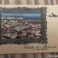 Postales: ANTIGUA Y RARA POSTAL CARTA RECUERDOS DESDE MONTEVIDEO URUGUAY. Lote 94984107