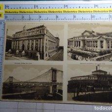 Postales: POSTAL DE ESTADOS UNIDOS, NUEVA YORK. CUSTOM HOUSE, PUBLIC LIBRARY, BATTERY PARK, MANHATTAN BRI. 495. Lote 95842463