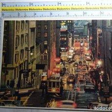 Postales: POSTAL DE ESTADOS UNIDOS, SAN FRANCISCO. POWELL STREET. TRANVÍAS. 496. Lote 95842495