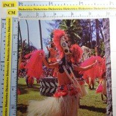 Postales: POSTAL DE TAHITÍ. OTEA. MUJER TRAJE TÍPICO. TIPISMO ÉTNICA ESCENA VIVA. 498. Lote 95842595