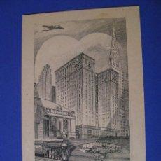 Postales: POSTAL DE ESTADOS UNIDOS. HOTEL THE COMMODORE. ACERO GRABADO. AÑOS 40.. Lote 95973919