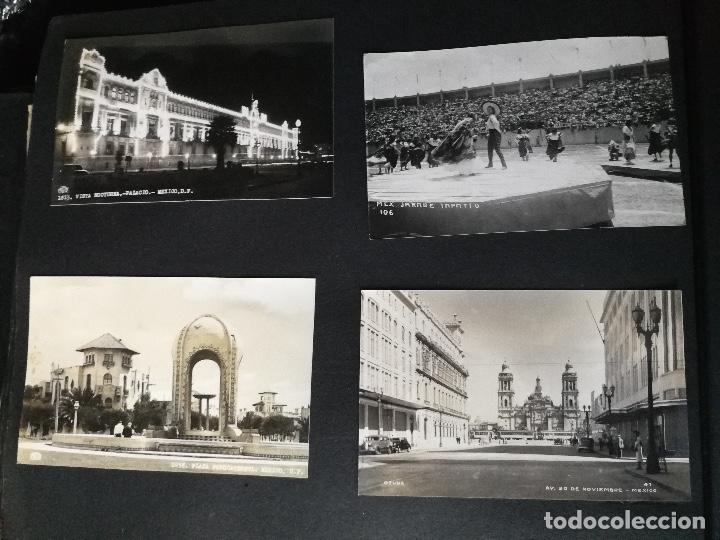 ANTIGUO Y PRECIOSO ALBUM DE FOTOGRAFIAS Y POSTALES DE MEXICO - AÑOS 40 - FOTOGRAFO POSTA MEX, YAÑEZ, (Postales - Postales Extranjero - América)