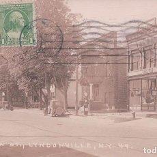 Postais: POSTAL MAIN ST LYNDONVILLE - NEW YORK 49 - FOTOGRAFICA - LEONARD A REINGRUBER R.E.C.P. 22515. Lote 96528531