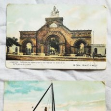 Postales: CUATRO POSTALES DE HABANA ANTIGUA, RON BACARDI. SIN CIRCULAR. Lote 96543907