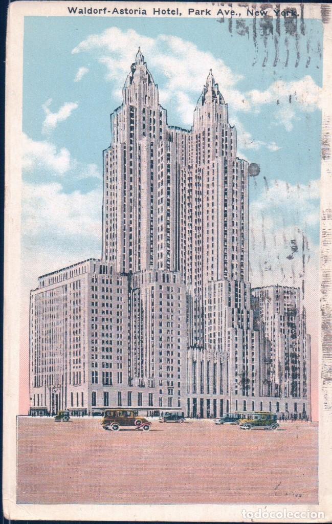 WALDORF-ASTORIA HOTEL, PARK AVENUE, NEW YORK CITY, NEW YORK (Postales - Postales Extranjero - América)