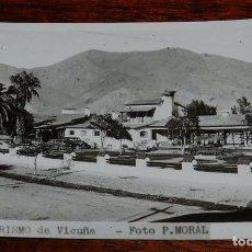 Postales: FOTO POSTAL DE VICUÑA (CHILE) HOTEL TURISMO, FOTO P. MORAL, SIN CIRCULAR. Lote 97904139