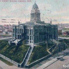 Postales: NEBRASKA OMAHA COUNTY COURT HOUSE 1908. Lote 98163115