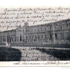 Postales: TARJETA POSTAL CASA DE BENEFICENCIA - LYNG-IN HOSPITAL. Nº 38 M.LAZARO.CALLE OBISPO 39 HABANA. Lote 99995767