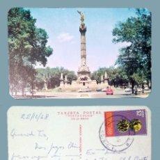 Postales: MÉXICO - COLUMNA DE LA INDEPENDENCIA - OLD POSTCARD - 1968. Lote 100110831