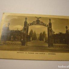 Postales: POSTAL ENTRADA AL PARQUE SAN MARTIN MENDOZA. Lote 100359835