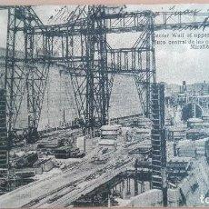 Postales: POSTAL CONSTRUCCION CANAL DE PANAMA MURO CENTRAL ESCLUSAS SUPERIORES MIRAFLORES INFRAESTRUCTURAS . Lote 100573647