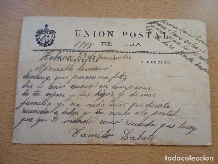 Postales: POSTAL UNION POSTAL DE CUBA VIVA ESPAÑA VIVA CUBA FECHADA EN 1917 FELICIDADES - Foto 2 - 102110619