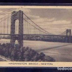 Postales: U.S.A. - NY CITY. *WASHINGTON BRIDGE...* CIRCULADA 1937.. Lote 105843923