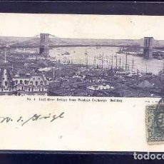 Postales: U.S.A. - NY CITY *EAST RIVER BRIDGE FROM PRODUCE EXCHANGE BUILDING...* CIRCULADA 1905.. Lote 106223363