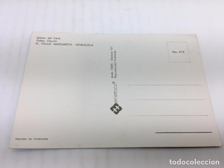 Postales: POSTAL SIN CIRCULAR DE MARGARITA, VENEZUELA - Nº 419 - IGLESIA DEL VALLE - Foto 2 - 106935627