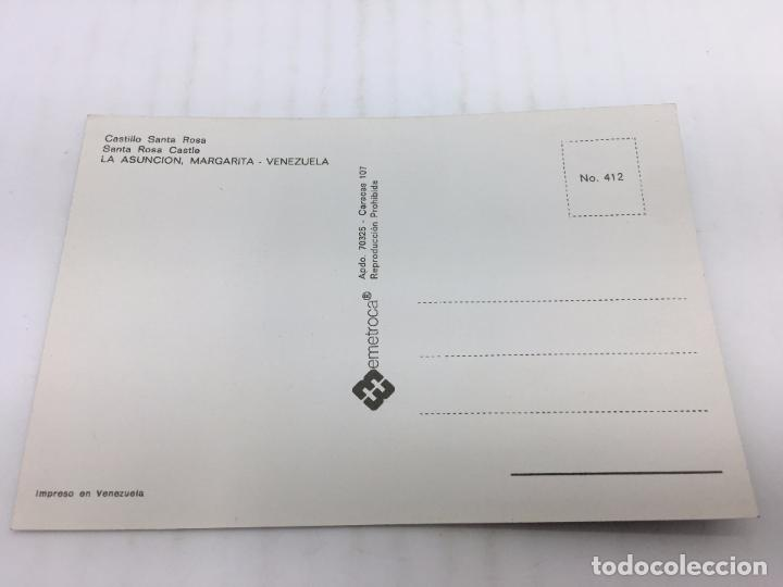 Postales: POSTAL SIN CIRCULAR DE MARGARITA, VENEZUELA - Nº 412 - CASTILLO SANTA ROSA - Foto 2 - 106935771