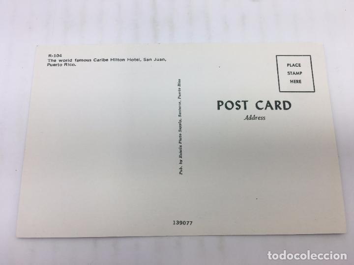 Postales: POSTAL SIN CIRCULAR DE SAN JUAN DE PUERTO RICO - R 104 - CARIBE HILTON HOTEL - Foto 2 - 106936583