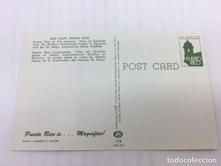 Postales: POSTAL SIN CIRCULAR DE SAN JUAN DE PUERTO RICO - VISTA DEL CONDADO DESDE EL CENTRO GUBERNAMENTAL - Foto 2 - 106937035