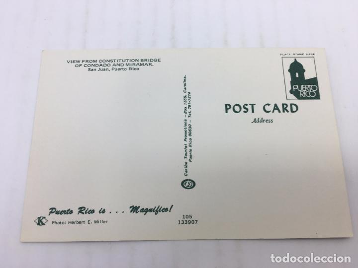 Postales: POSTAL SIN CIRCULAR DE SAN JUAN DE PUERTO RICO - VIEW FROM CONSTITUTION BRIDGE - Foto 2 - 106937243
