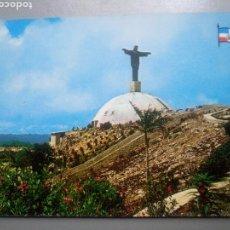 Cartoline: POSTAL PUERTO PLATA REPÚBLICA DOMINICANA COSTA DE ÁMBAR VISTA DEL CRISTO EN LOMA DE ISABEL TORRES. Lote 107409358