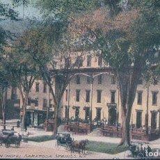 Cartoline: POSTAL NUEVA YORK - THE AMERICAN HOTEL - SARATOGA SPRINGS - NEW YORK. Lote 108705563