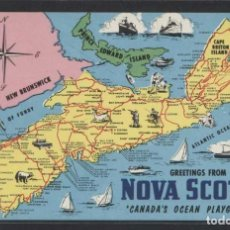 Postales: CANADA. NS - *GREETINGS FROM NOVA SCOTIA...* NUEVA.. Lote 109038095