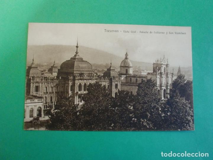 TUCUMAN PALACIO DE GOBIERNO Y SAN FRANCISCO TARJETA POSTAL O.H. B.A. N. 46 - ARGENTINA AÑOS 20 (Postales - Postales Extranjero - América)