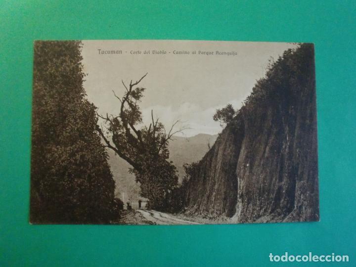 TUCUMAN CORTE DEL DIABLO CAMINO AL PARQUE ACONQUIJA TARJETA POSTAL O.H. B.A. N. 27 ARGENTINA AÑOS 20 (Postales - Postales Extranjero - América)