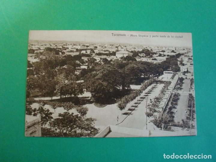 TUCUMAN PLAZA URQUIZA Y PARTE NORTE DE LA CIUDAD TARJETA POSTAL O.H. B.A. N. 35 ARGENTINA AÑOS 20 (Postales - Postales Extranjero - América)